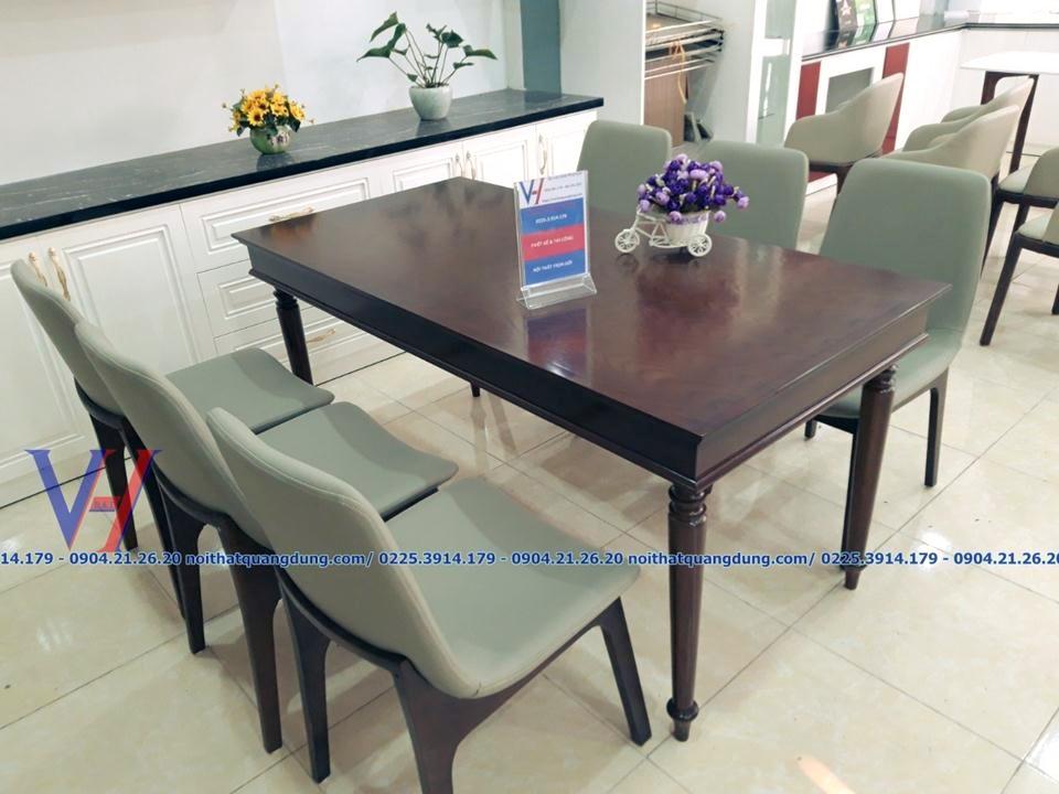 bàn ghế ăn đẹp vetu tại nội thất quang dũng hải phòng