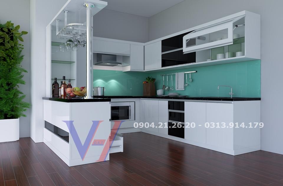 Tủ bếp nhà anh Dũng Đồ Sơn