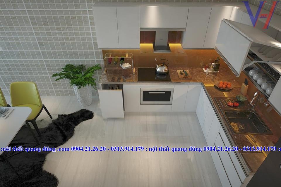 Phương án bếp nhà Anh Hoàng Dư Hàng HP
