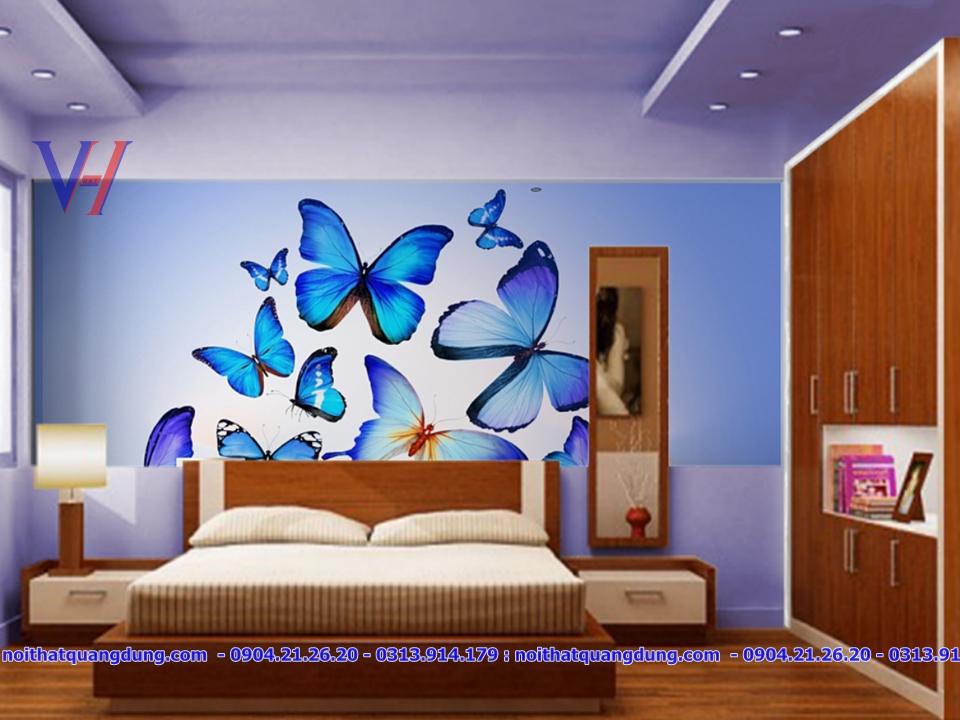 bộ giường tủ màu cánh dán đẹp