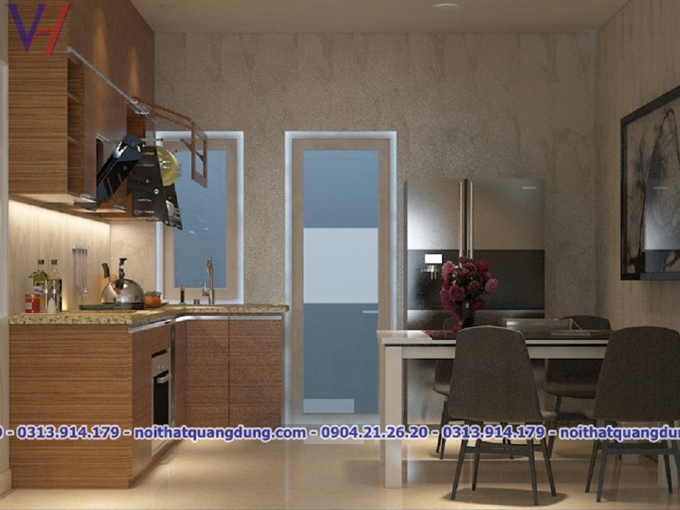 nhà sản xuất tủ bếp Laminate Quang Dũng Hải Phòng
