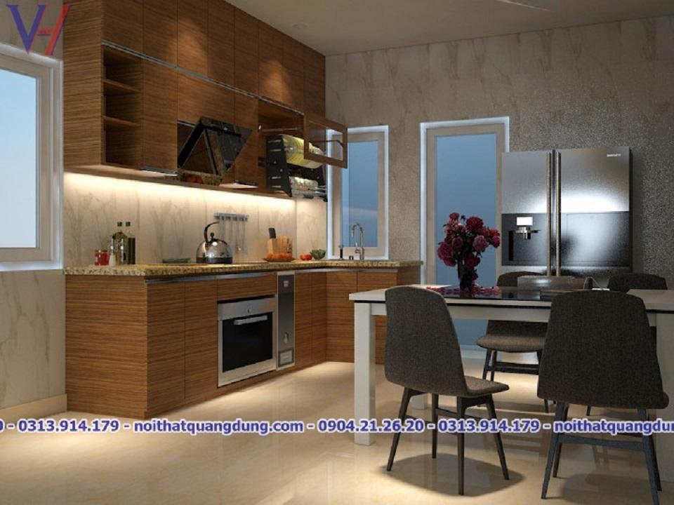 tủ bếp Laminate Quang Dũng