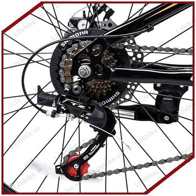 Tăng tốc sau xe đạp Life L24