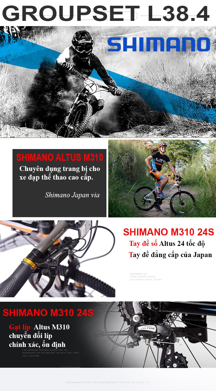 Bộ truyền động Shimano Altus