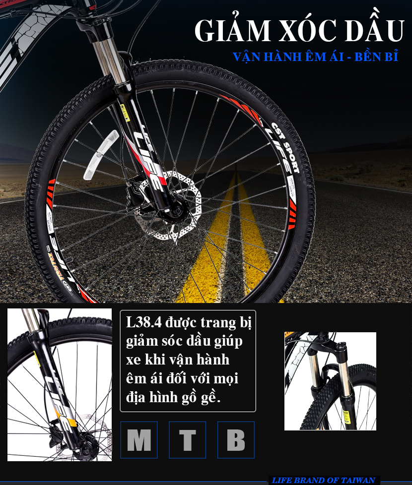 Càng xe đạp địa hình Life L38.4