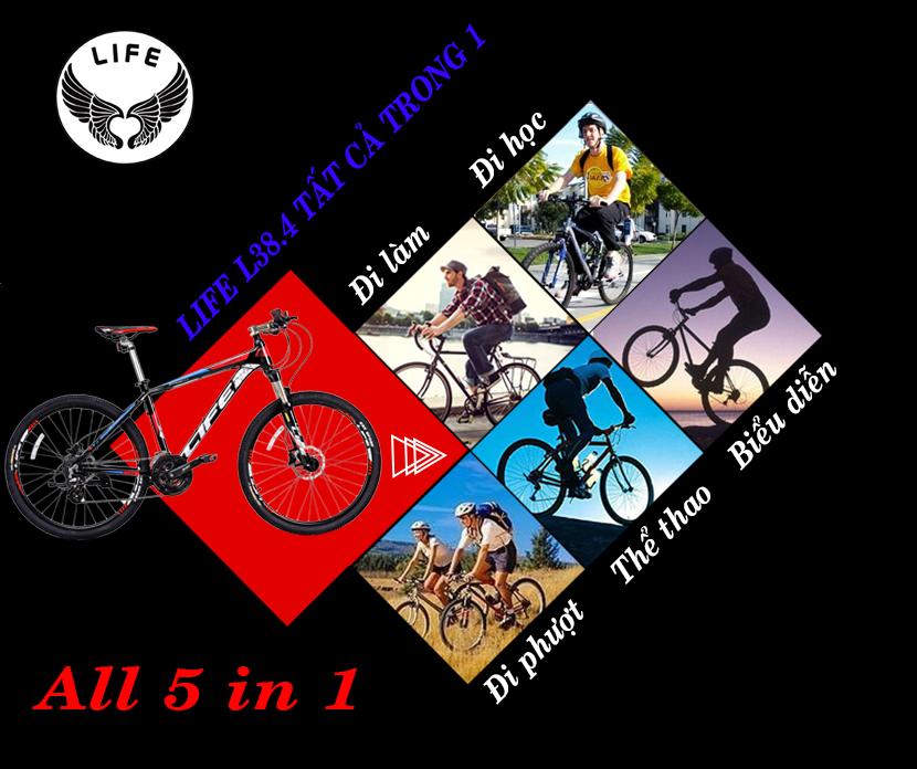 Xe đạp Life L38.4 tất cả trong 1