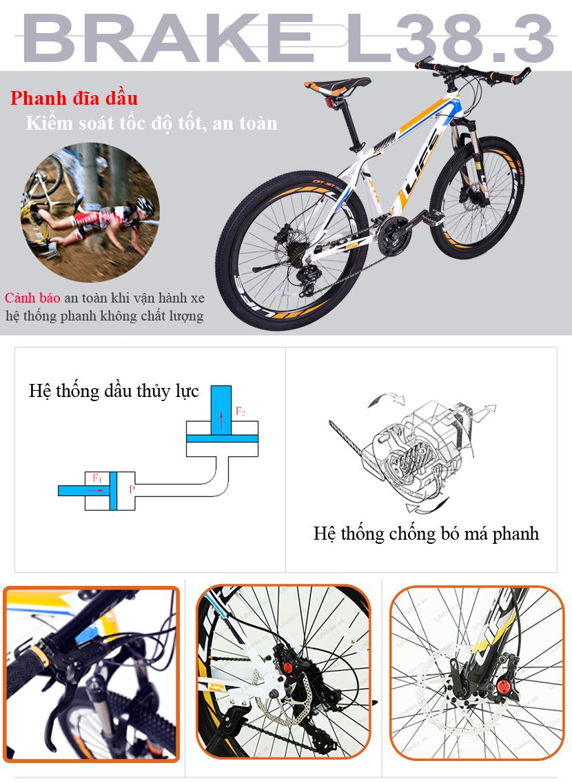 Phanh xe đạp địa hình Life L38.3
