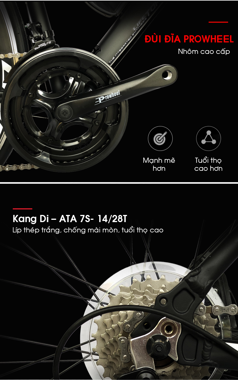 Đùi đĩa xe đạp đua Life Super33