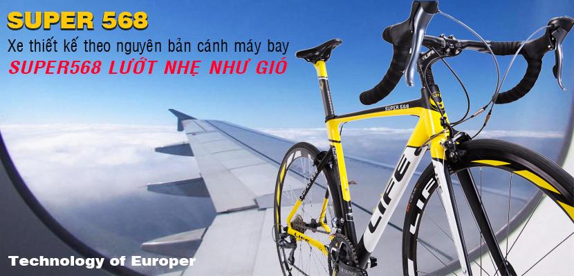 Xe đạp đua Life Super568 lướt nhẹ như gió