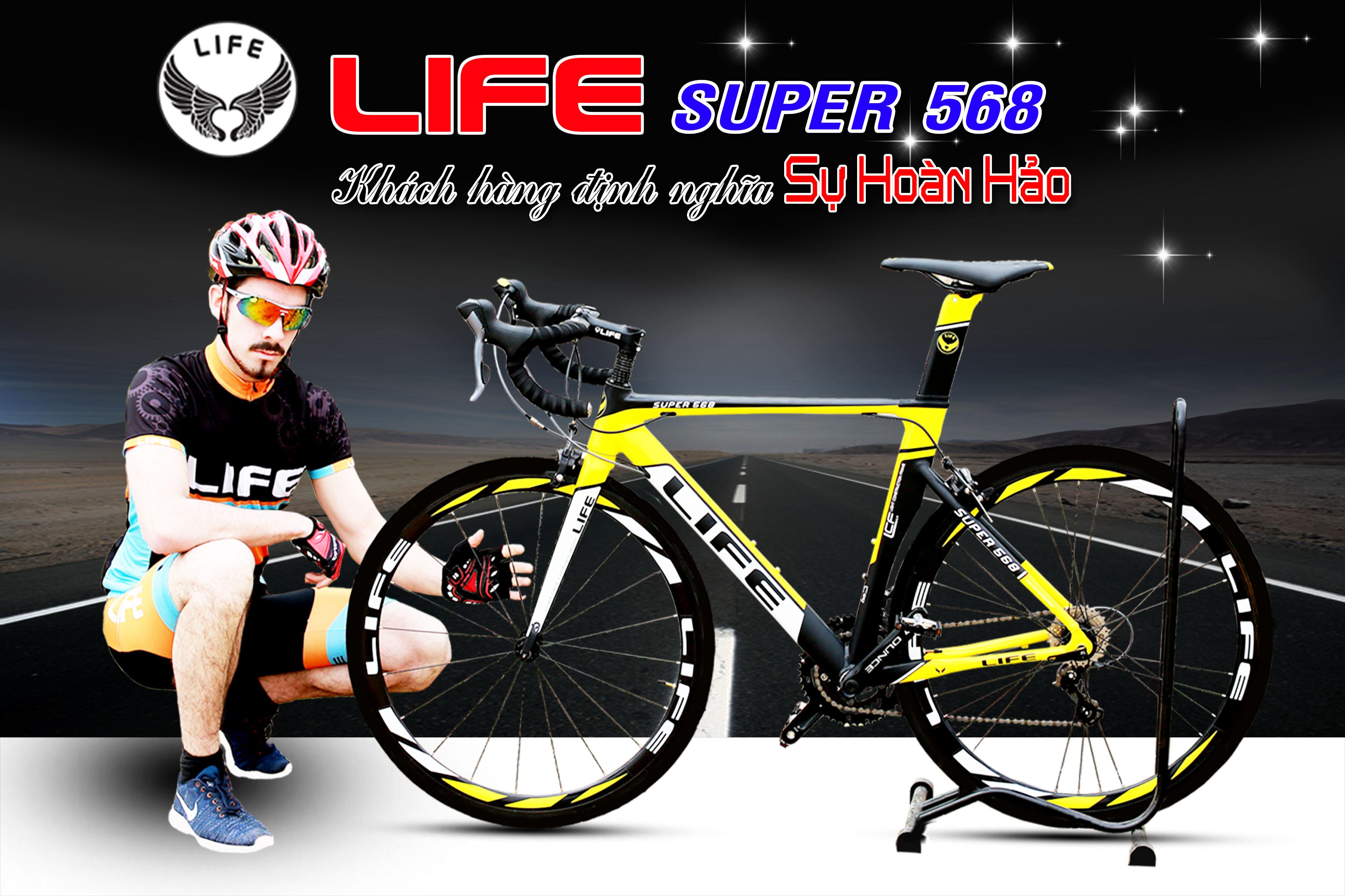 Xe đạp đua Life Super568 chất lượng hoàn hảo