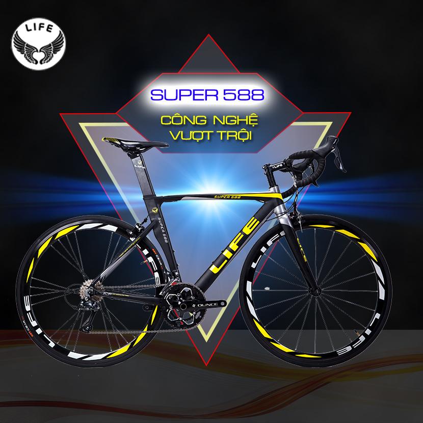 Xe đạp đua Life Super588 công nghệ vượt trội