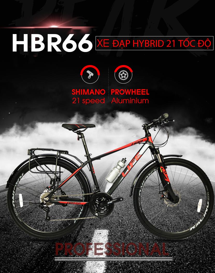 Xe đạp hybrid Life HBR66 21 tốc