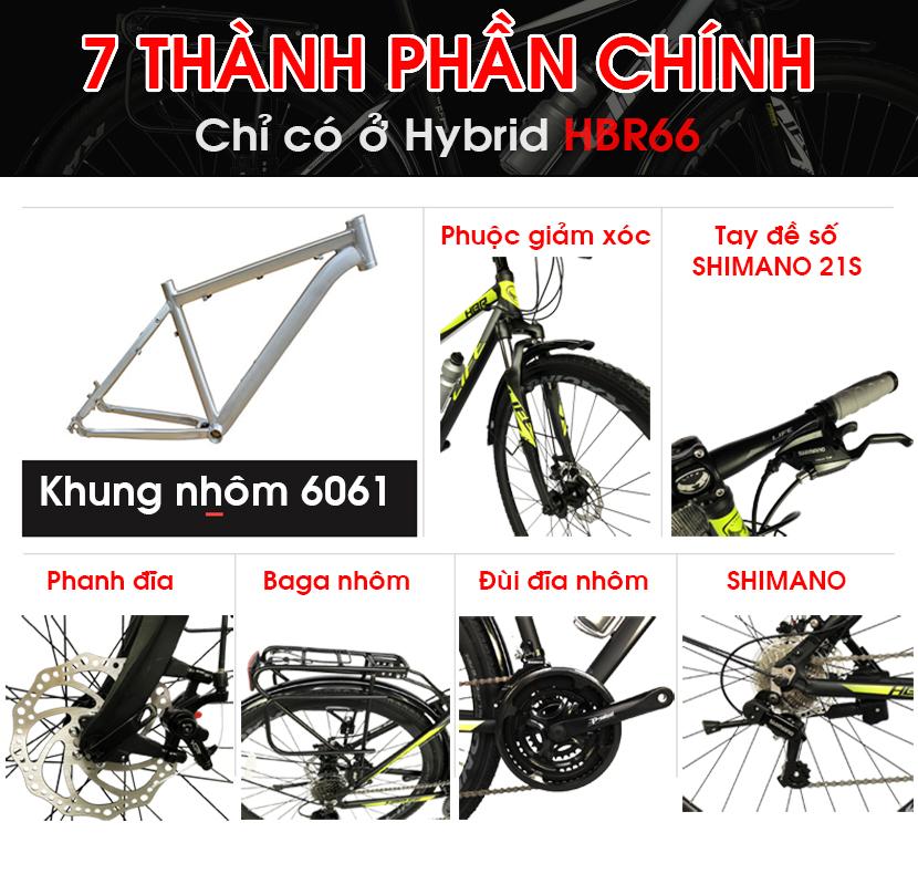 Xe đạp hybrid Life HBR66 ưu điểm vượt trội
