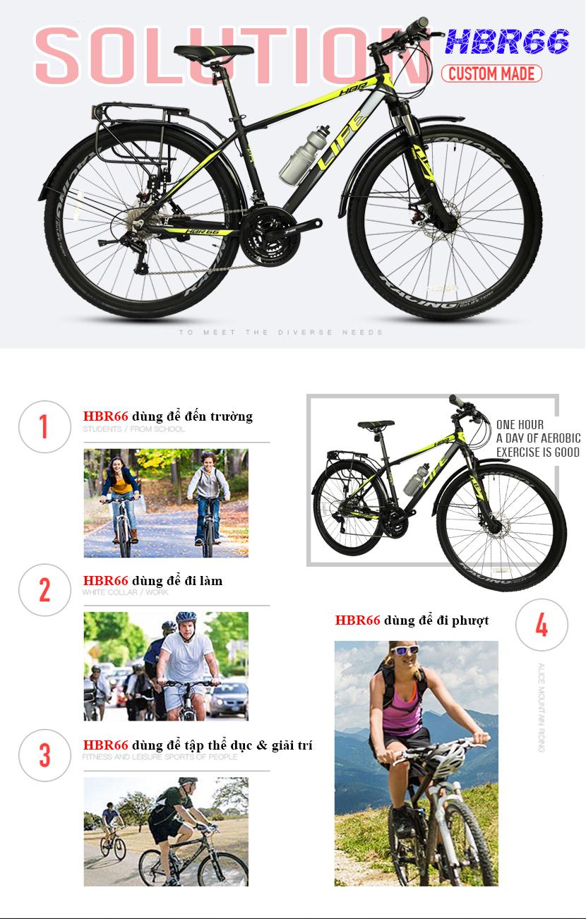 Xe đạp hybrid Life HBR66 đa năng