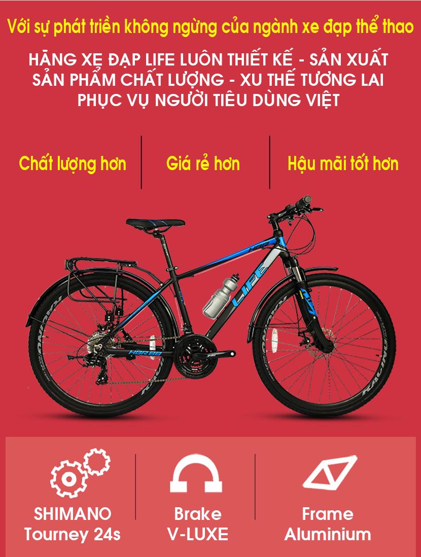 Xe đạp hybrid Life HBR88 chất lượng hơn