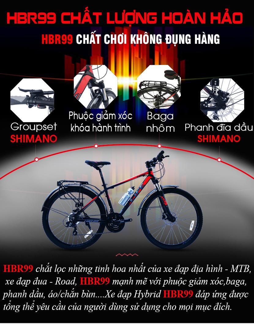 Xe đạp Hybrid Life HBR99 chất lượng hoàn hảo