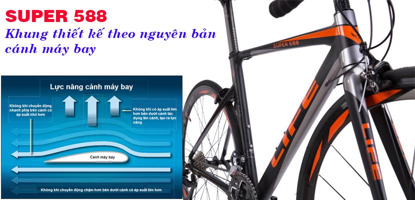 Khung xe đạp đua Life Super588