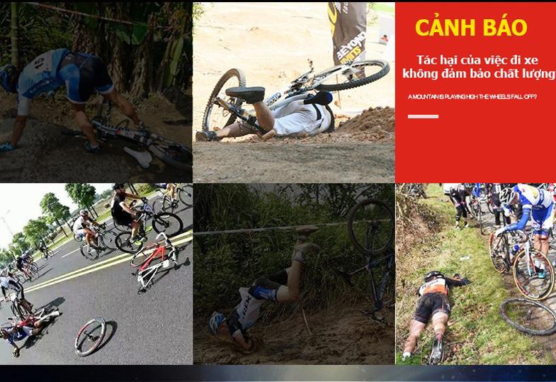 Tác hại khi sử dụng xe đạp địa hình kém chất lượng