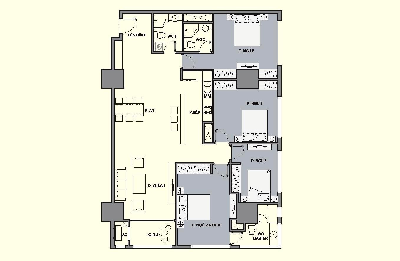 Bán căn 04 tòa R6 154.5m2