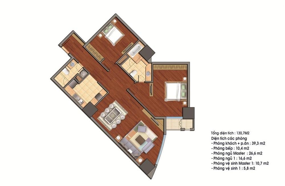 Bán căn 17 tòa R3 130.7m2