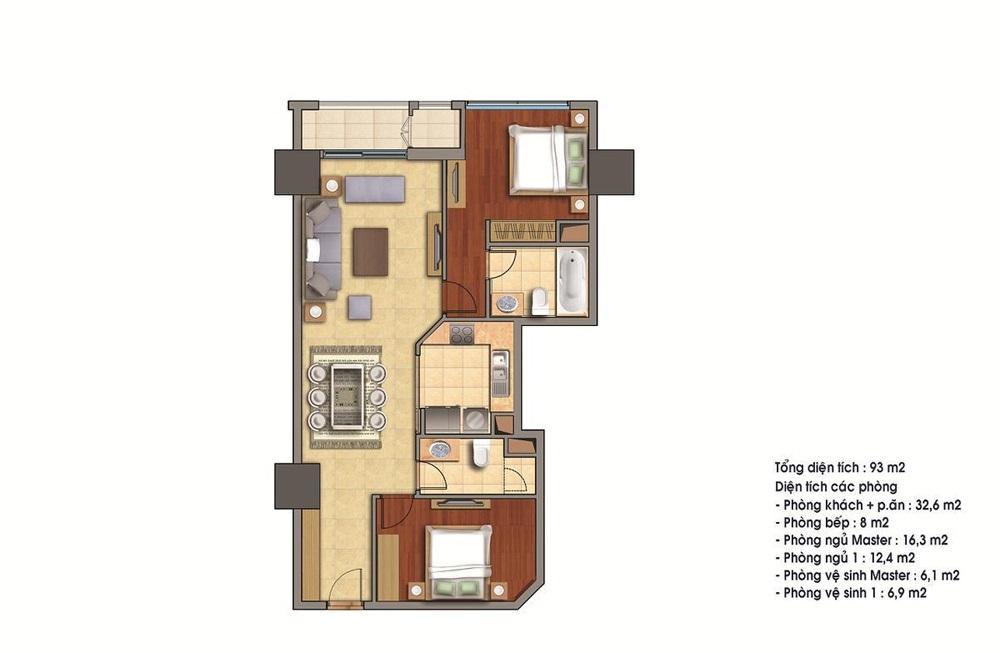Bán căn 19 tòa R4 93m2