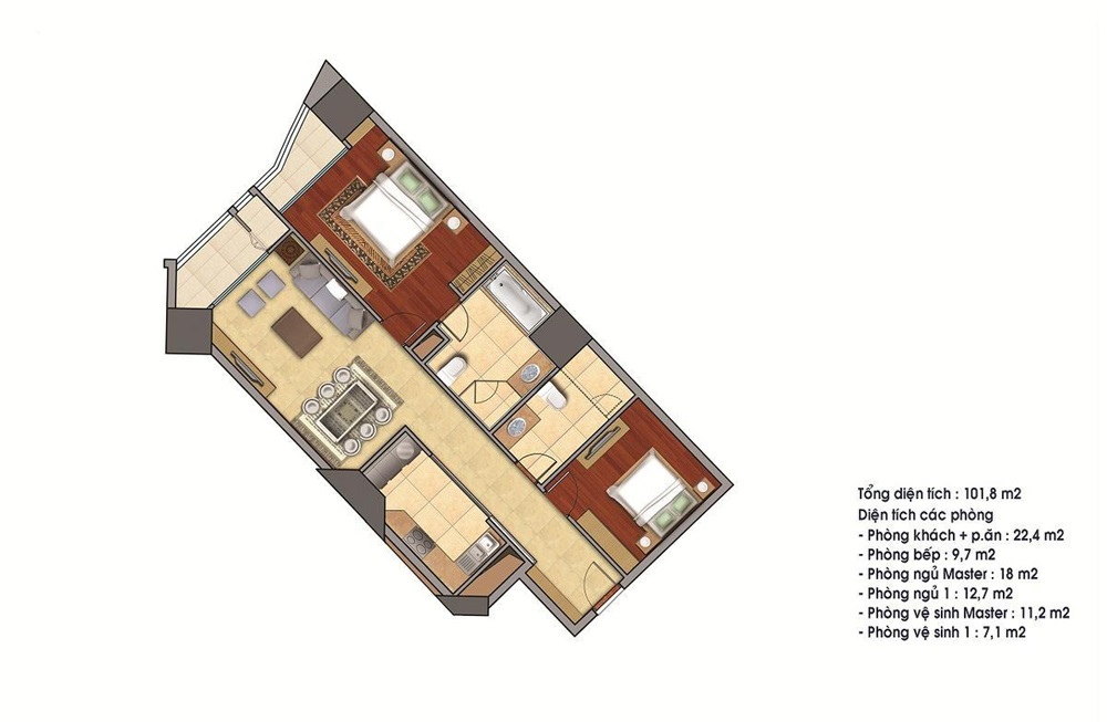 Bán căn 23 tòa R4 112.4m2