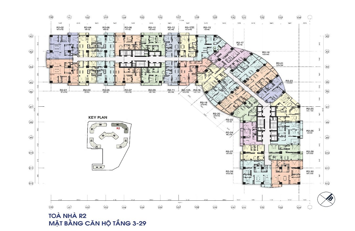Cho thuê căn hộ 89.8m2 tòa R2