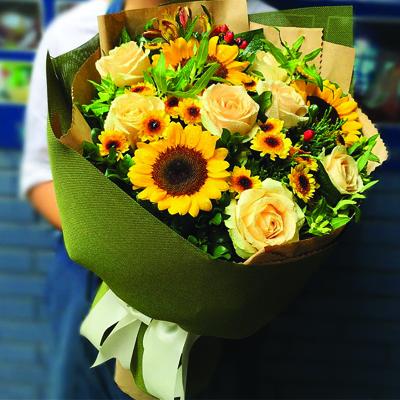Bó hoa hướng dương - rực rỡ và rạng ngời với sắc vàng của ...