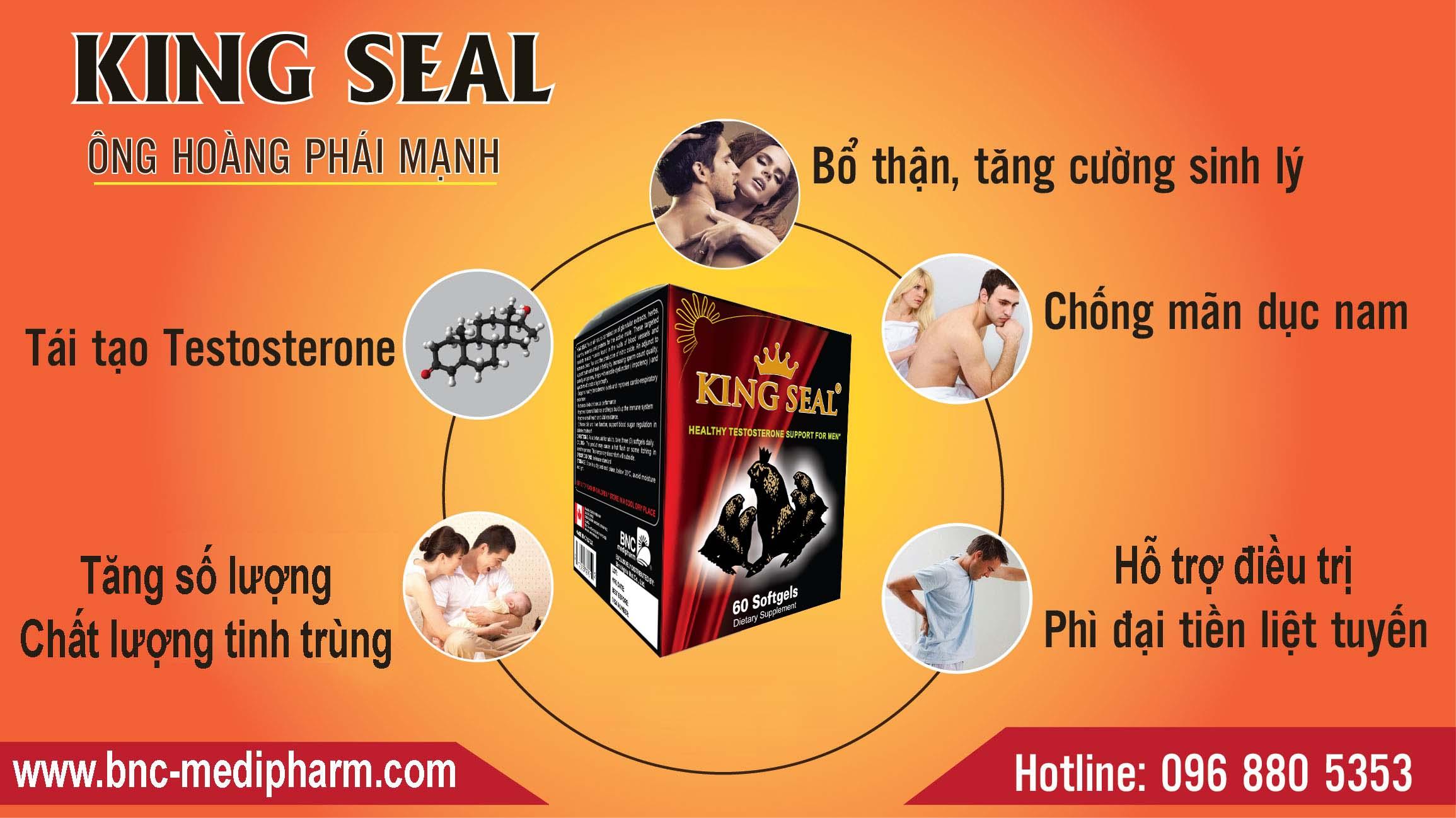 Thuốc King Seal - Phòng chống rối loạn cương dương, xuất tinh sớm