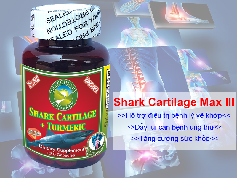 sụn vi cá mập Shark Cartilage Max III 1600mg