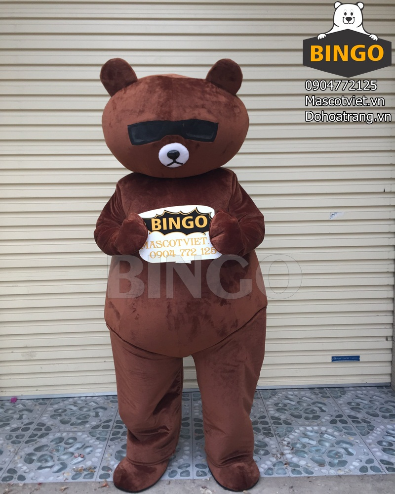 Mascot Gấu Brown