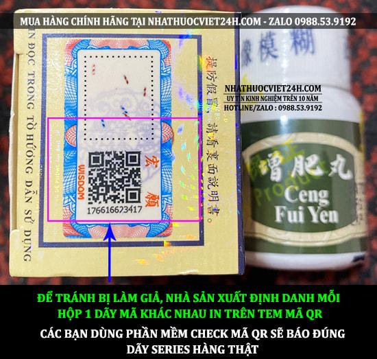 THUỐC TĂNG CÂN CENG FUI YEN HÀNG CHÍNH HÃNG MALAYSIA