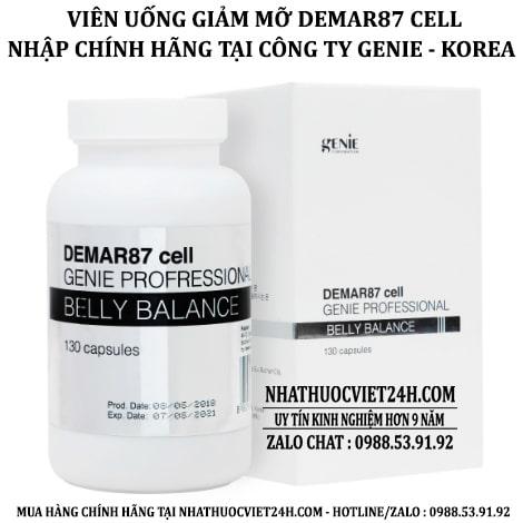 VIÊN UỐNG GIẢM MỠ BỤNG GENIE DEMAR87 CELL