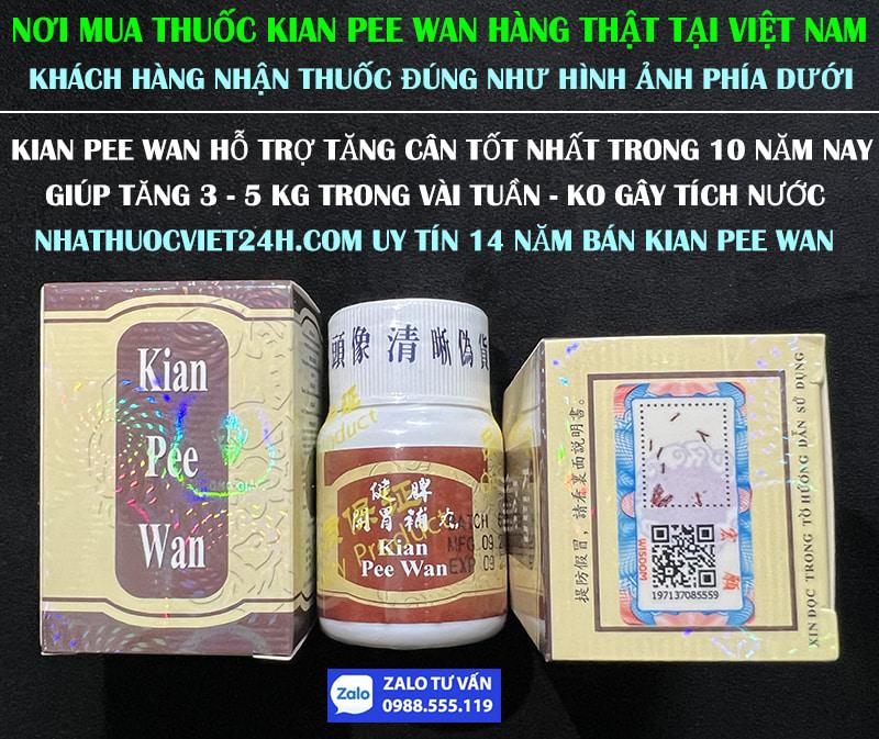 THUỐC TĂNG CÂN KIAN PEE WAN MALAYSIA - NƠI MUA HÀNG THẬT TẠI VIỆT NAM