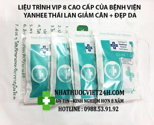 LIỆU TRÌNH THUỐC GIẢM CÂN YANHEE VIP 8 GIẢM CÂN ĐẸP DA