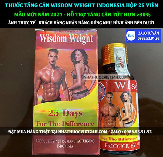 NƠI MUA THUỐC TĂNG CÂN WISDOM WEIGHT INDONESIA CHÍNH HÃNG TẠI VIỆT NAM