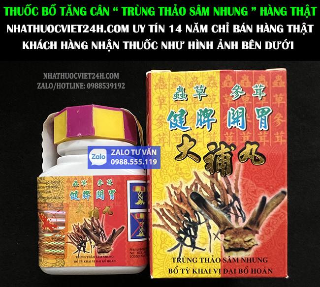 THUỐC TĂNG CÂN TRÙNG THẢO SÂM NHUNG NHẬP CHÍNH HÃNG MALAYSIA