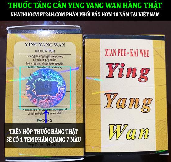 THUỐC TĂNG CÂN YING YANG WAN CHÍNH HÃNG