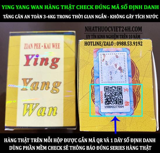 THUỐC TĂNG CÂN YING YANG WAN 33 VIÊN NHẬP NGUYÊN HỘP CHÍNH HÃNG ĐỘC QUYỀN