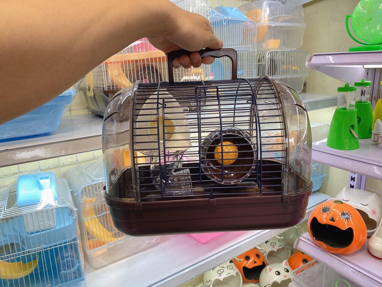 Lồng phi thuyền nhỏ màu nâu cho hamster