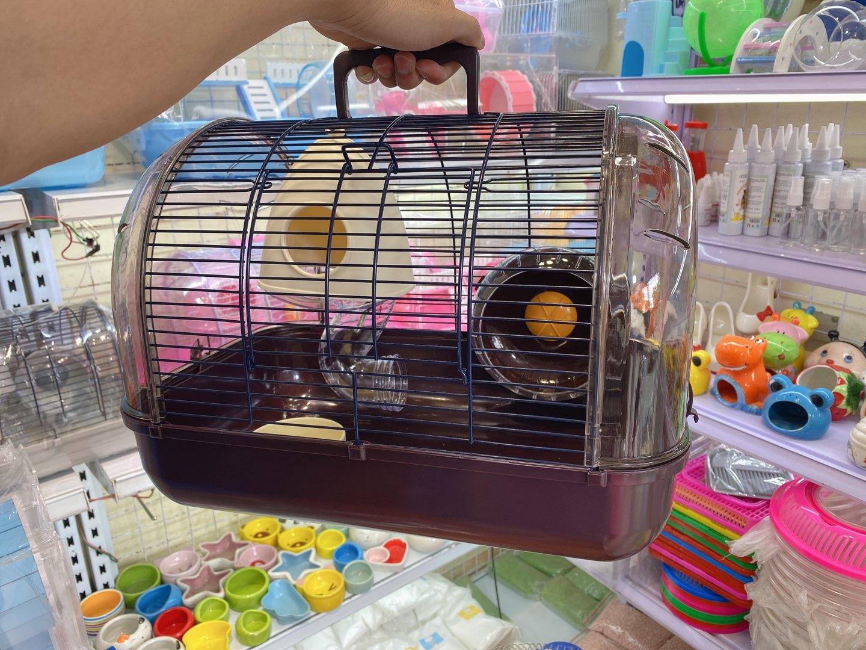 Lồng phi thuyền lớn màu nâu cho hamster