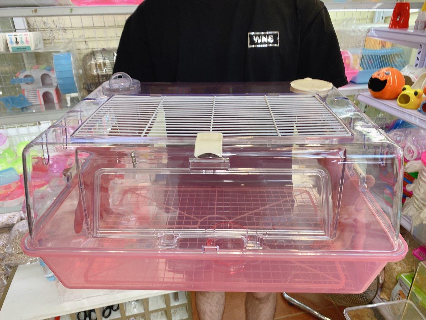 Lồng phi thuyền hồng cỡ đại cho hamster