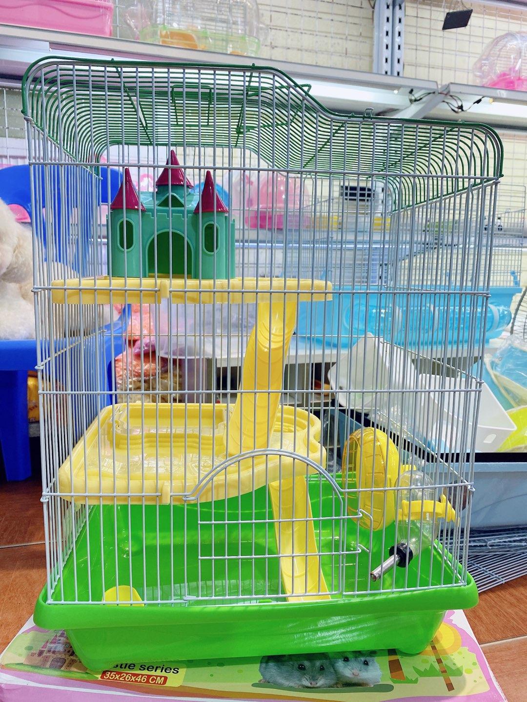Lồng lâu đài 3 tầng cho hamster