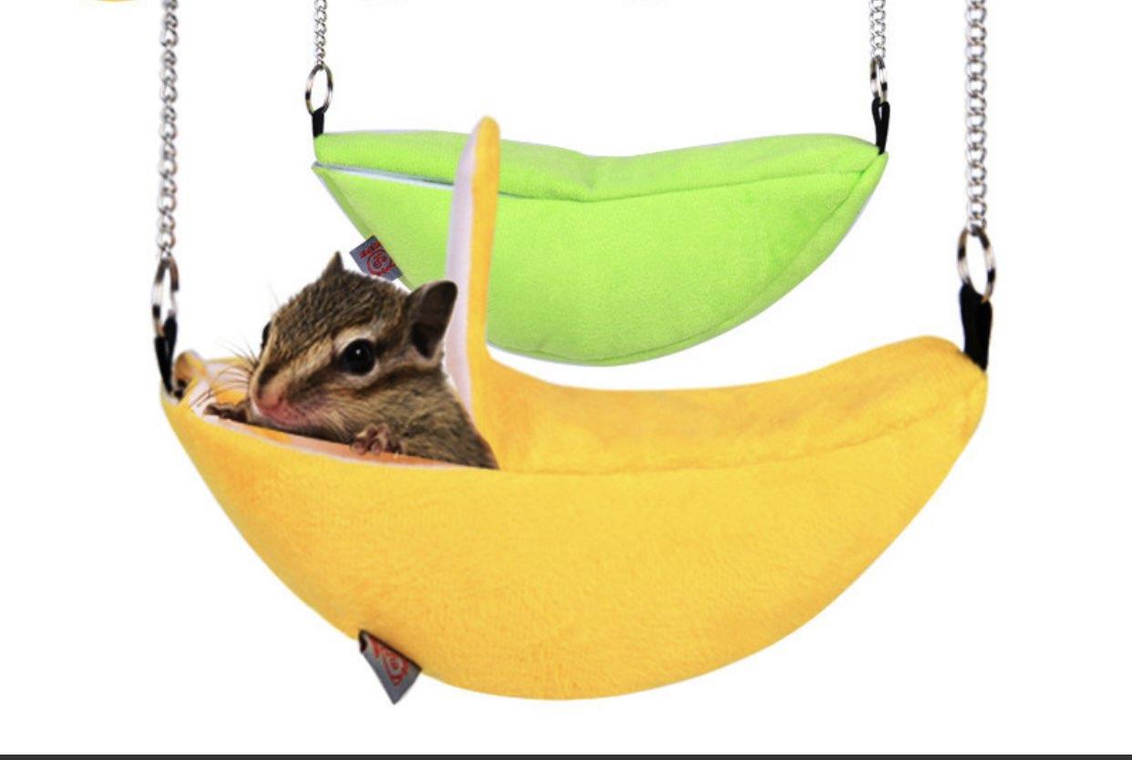 Nhà ngủ vải treo trái chuối cho hamster