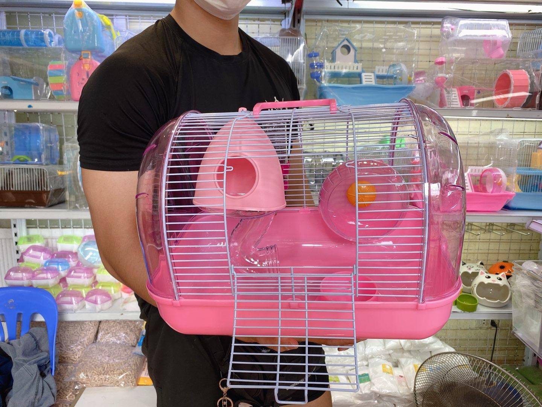 Lồng phi thuyền lớn màu hồng cho hamster