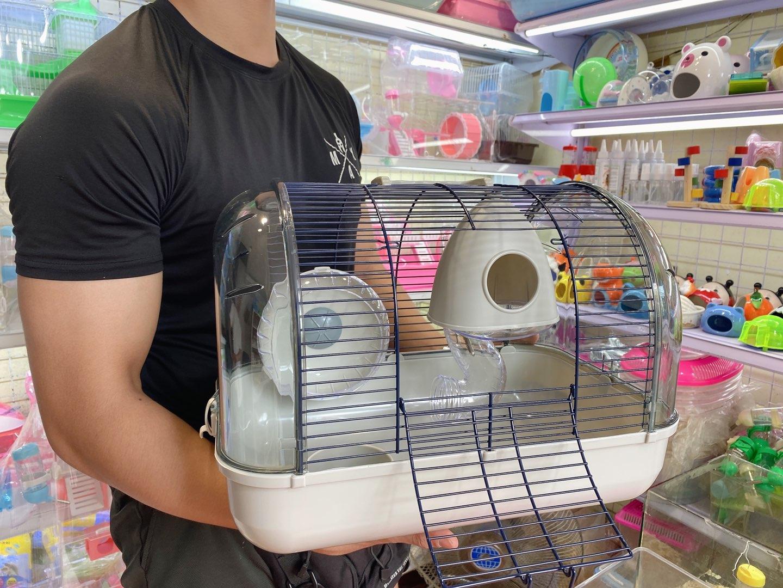 Lồng phi thuyền lớn màu xám cho hamster