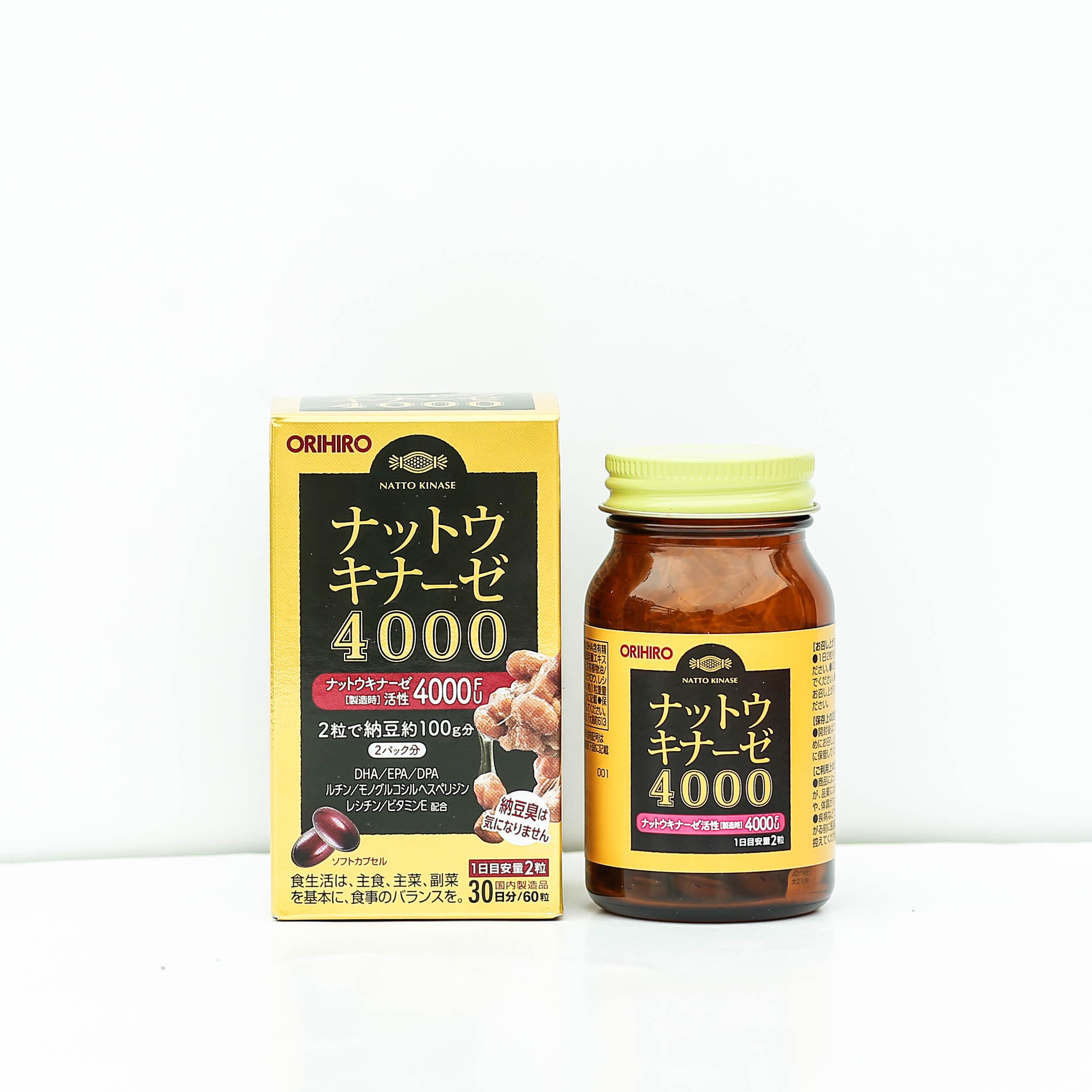 Viên uống hỗ trợ điều trị đột quỵ 4000 FU Orihiro