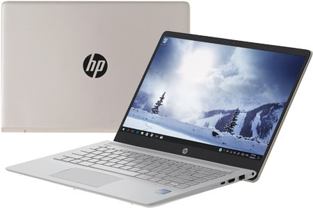 Laptop HP Pavilion 14-ce0027TU 4PA64PA - Gold