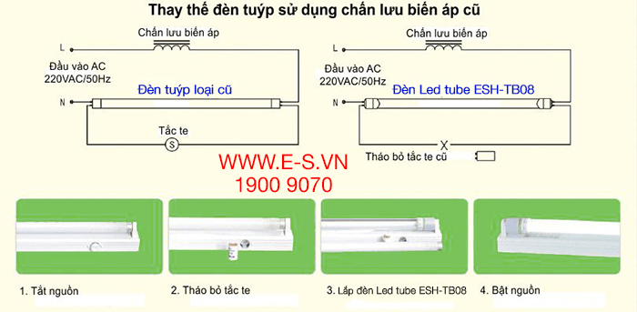 Đèn Led tube 16W