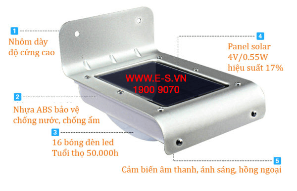 Đèn năng lượng mặt trời ES-30.01